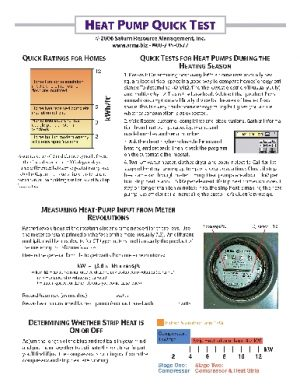 Quick Tests for Heat Pumps