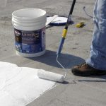 Mobile home roof coating