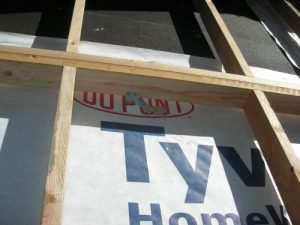 Eric Doub retrofit wall ready for spray foam.