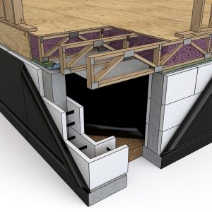 icf crawl space web truss