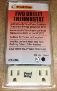 Regulated or unregulated, control your heating cable with a thermostat.