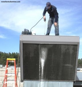 This is the right way to clean condenser coils.