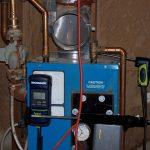 Testing an atmospheric oil boiler.