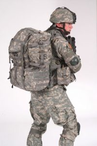 The electron soldier with energy in his packpack.